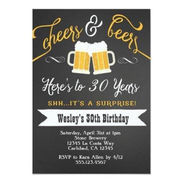 surprise cheers & beers birthday party