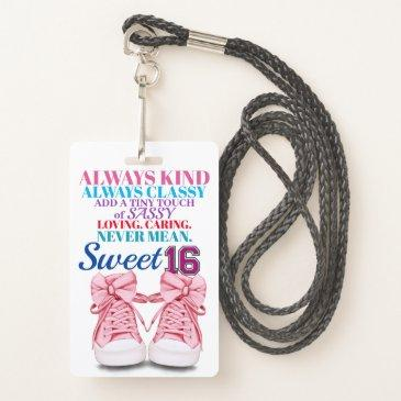 sweet 16 badge - see back