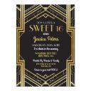 sweet 16 birthday party gatsby art deco invite
