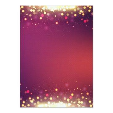 Small Sweet 16 Birthday Party Gold Shimmer Sparkles Invitations Back View