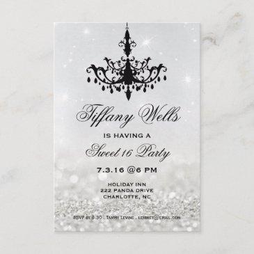 sweet 16 birthday party invite | chandelier