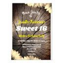 sweet 16 cowgirl rustic tree floral birthday party invitation