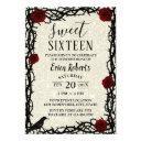 sweet 16 fairytale red rose & thorn modern glitter