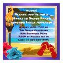 sweet 16 luau beach party invitations