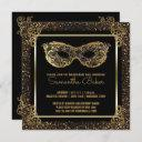 sweet 16 masquerade party | sweet sixteen gold invitation