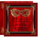 sweet 16 masquerade   red sweet sixteen birthday invitation