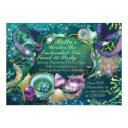 sweet 16 mermaid under the sea birthday invitation