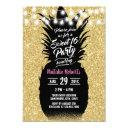 sweet 16 modern gold glitter pineapple invitation