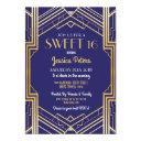 sweet 16 party birthday gatsby art deco invite