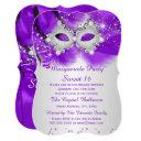 sweet 16 party mask purple silver masquerade