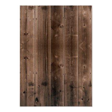 Small Sweet 16 Rustic Daisy Flowers Barn Wood Invitation Back View