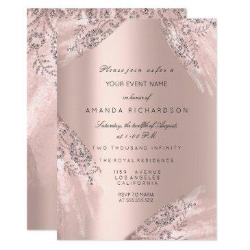 sweet 16th dress spark rose gold diamond invitation