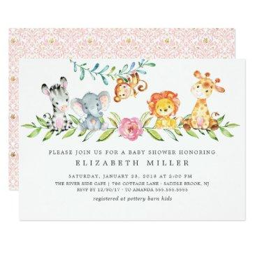 sweet safari animals baby shower