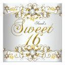 sweet sixteen 16 birthday yellow gold diamond 5 invitation