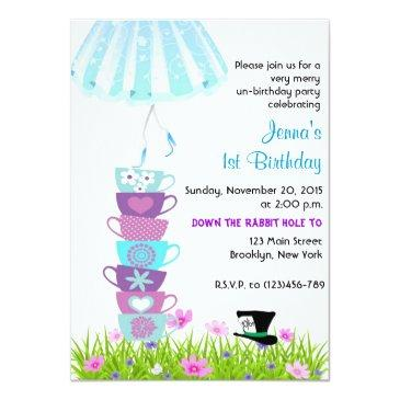 sweet sixteen alice in wonderland invite madhatter