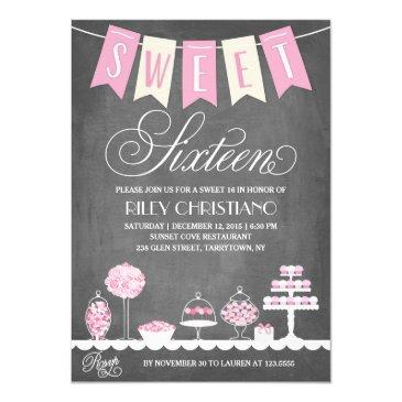 sweet sixteen | birthday invitations