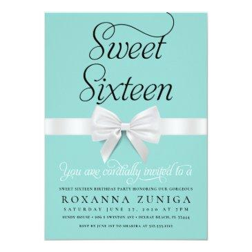 Small Sweet Sixteen Birthday Party Invitation Front View