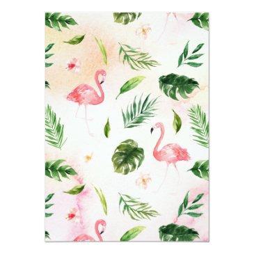 Small Sweet Sixteen Flamingo Invitation Back View