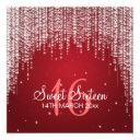 sweet sixteen party night dazzle red invitation