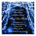 sweet sixteen party string lights blue invitation