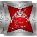 sweet sixteen sweet 16 red silver tiara