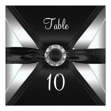 table number diamond jewel black white silver
