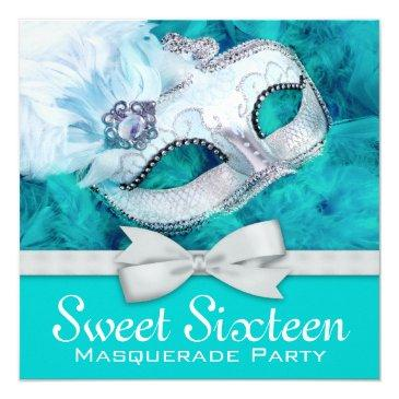 teal blue masquerade party