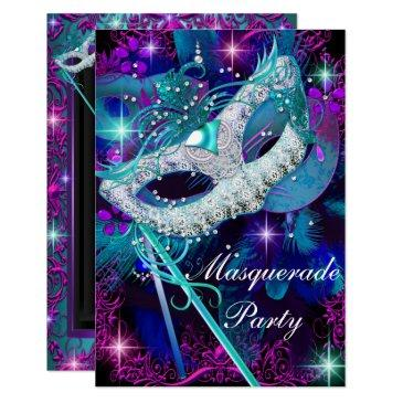 teal & purple masquerade ball party  sml
