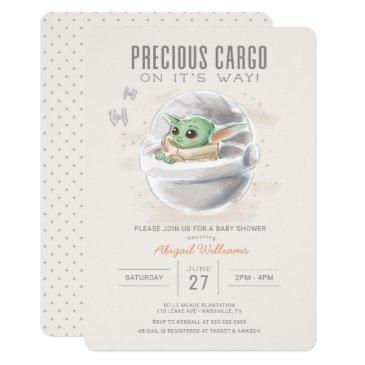 the child | watercolor baby shower invitation