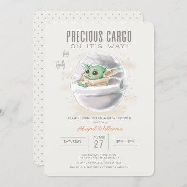 the child | watercolor baby shower invitation
