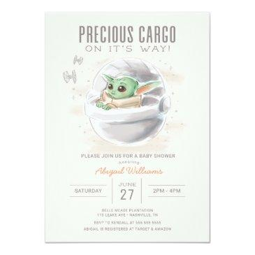 Small The Child | Watercolor Baby Shower Invitation Front View