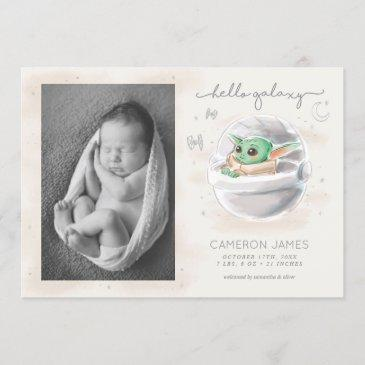 the child | watercolor birth announcement - photo