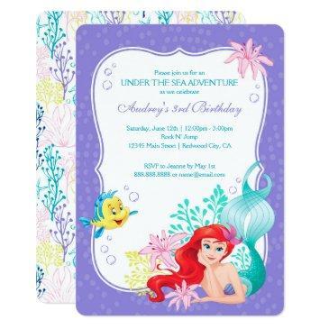 the little mermaid | under the sea birthday invitations