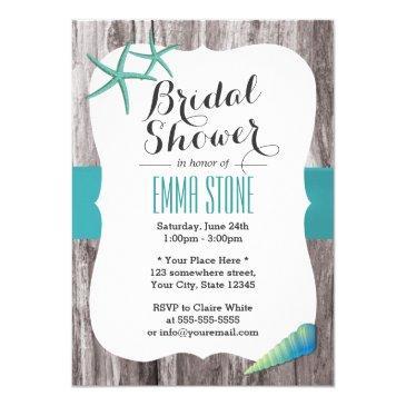 tiffany blue seashells beach theme bridal shower