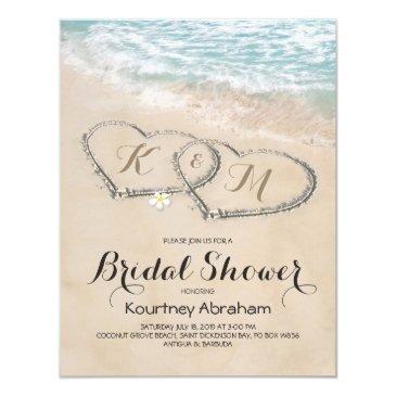 tropical vintage beach heart bridal shower