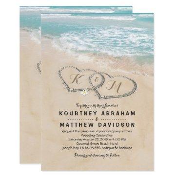 tropical vintage beach heart shore wedding
