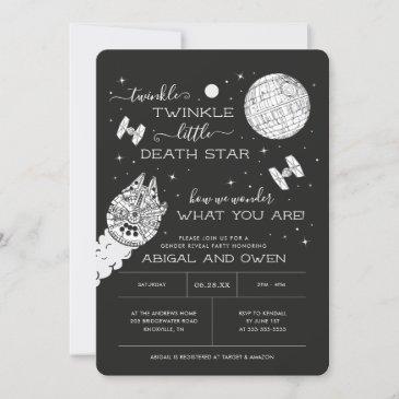 twinkle twinkle little death star | gender reveal invitation