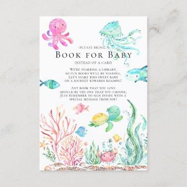 under the sea baby shower book for baby invitations
