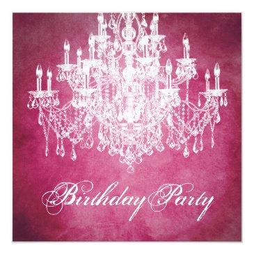 vintage chandelier womans 40th birthday party