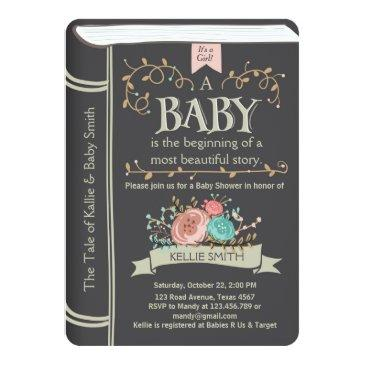 vintage storybook baby shower invitation unisex
