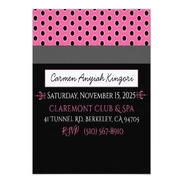 Small Vip Pink Stripes Photo Credit Invitations Invitation Back View