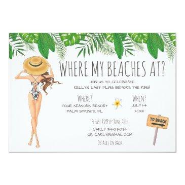 watercolor bachelorette beach party