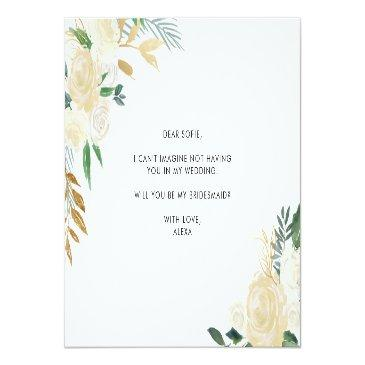Small Watercolor Peonies Will You Be My Matron Of Honor Invitation Postinvitations Back View