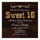 western star country sweet 16 birthday invitations