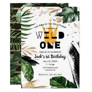 wild one 1st birthday | king of things crown invitation