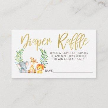 wild safari diaper raffle ticket insert