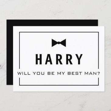 will you be my best man? the groomsman invite