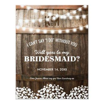 will you be my bridesmaid | rustic country chic