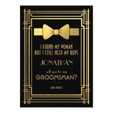 will you be my groomsman | great gatsby groomsmen invitation