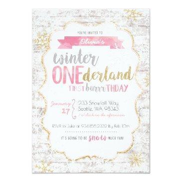 winter onederland first birthday invitations